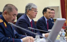 President of Kazakhstan Kassym-Jomart Tokayev takes part in extended meeting of Interior Ministry Board
