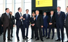 Visiting the new terminal of Astana airport